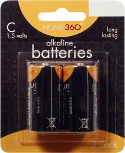 Home 360 C Alkaline Batteries