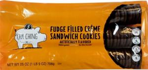 Cha-ching Fudge Filled Creme Sandwich Cookies