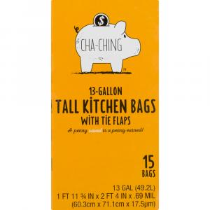 Cha-Ching Tall Kitchen Trash Bags