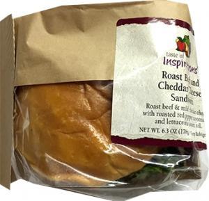 Taste Of Inspirations Roast Beef & Cheddar Sandwich