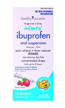 Healthy Accents Dye Free Infant Ibuprofen Drops