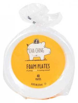 "Cha-ching 8 7/8"" Foam Plates"