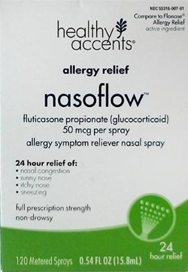 Healthy Accents Allergy Relief Nasoflow 120 Metered Sprays