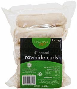 Home 360 Pet Natural Rawhide Curls