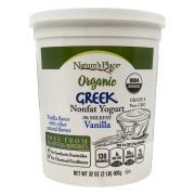 Nature's Place Organic Greek Vanilla NonFat Yogurt