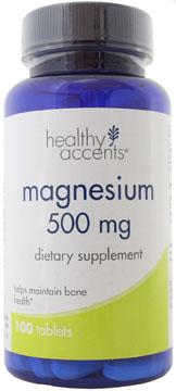 Healthy Accents Magnesium 500 mg Tablets
