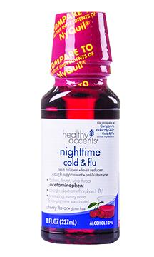 Healthy Accents Nighttime Cold and Flu Cherry Flavor