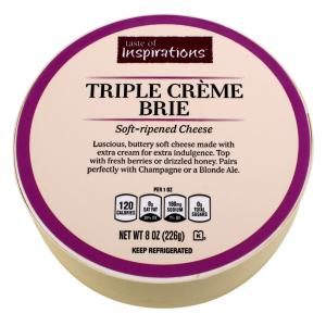Taste Of Inspirations Triple Creme Brie Round Cheese
