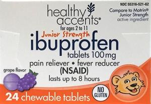 Healthy Accents Junior Strength Ibuprofen Chewable Tablets