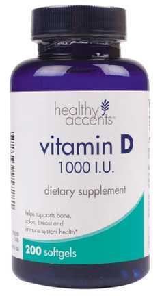 Healthy Accents Vitamin D 1000 I.U. Softgels