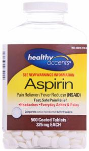 Healthy Accents Aspirin