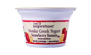 Taste Of Inspirations Nonfat Greek Yogurt Strawberry Banana