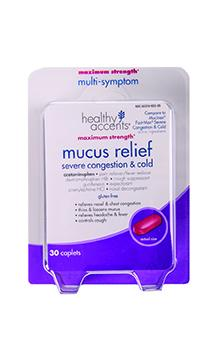 Healthy Accents Mucus Relief Severe Congestion