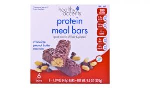 Healthy Accents Chocolate Peanut Butter Protein Meal Bars