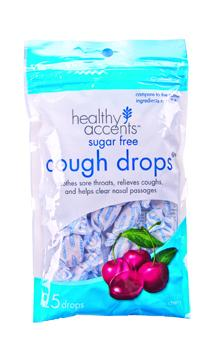 Healthy Accents Sugar Free Cherry Menthol Cough Drops