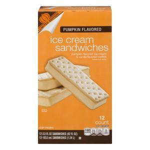 Limited Time Originals Pumpkin Flavored Ice Cream Sandwiches