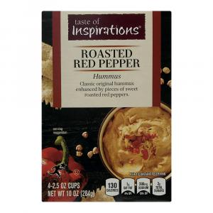 Taste of Inspirations Roasted Red Pepper Mini Hummus Cups