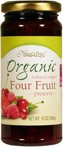Nature's Place Organic Low Sugar Four Fruit Preserves