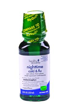 Healthy Accents Nighttime Cold & Flu Original Flavor Liquid