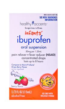 Healthy Accents Berry Infant Ibuprofen Oral Suspension