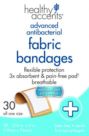 "Healthy Accents 3/4"" Fabric Bandages"