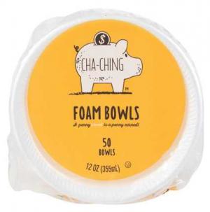 Cha-ching 12 Oz. Foam Bowls