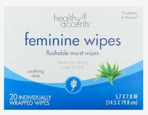Healthy Accents Feminine Wipes Individually Wrapped