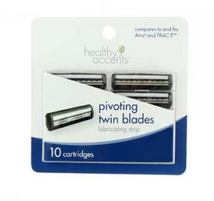 Healthy Accents Pivoting Twin Blade Cartridges Refill