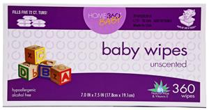 Home 360 Baby Unscented Baby Wipes