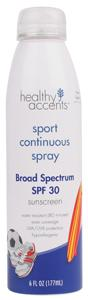 Healthy Accents Spf 30 Sport Continuous Spray Sunscreen