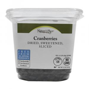 Nature's Place Dried Sweetened Sliced Cranberries