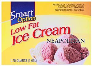 Smart Option Low Fat Vanilla Chocolate Strawberry Ice Cream