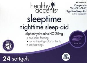 Healthy Accents Sleeptime Nighttime Sleep-aid Soft Gels