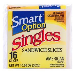 Smart Option Imitation White Cheese Slices
