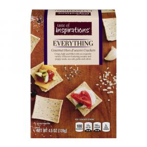 Taste Of Inspirations Everything Snack Crackers