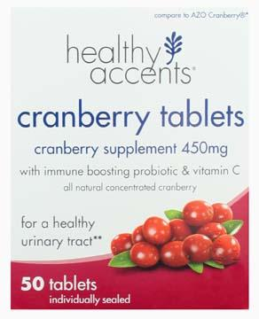 Healthy Accents Cranberry Tablets