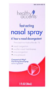 Healthy Accents Nasal Four Nasal Spray