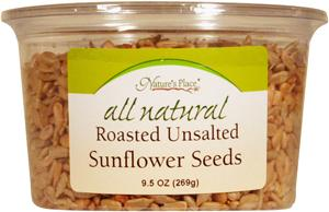 Nature's Place All Natural Roasted Unsalted Sunflower Seeds
