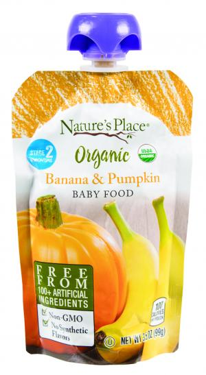 Nature's Place Organic Banana & Pumpkin Baby Food