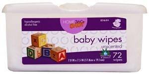 Home 360 Baby Unscented Wipes Tub