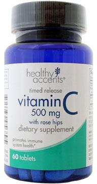 Healthy Accents Timed Release Vitamin C W/rose Hips 500 Mg