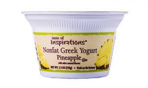 Taste Of Inspirations Nonfat Greek Yogurt Pineapple