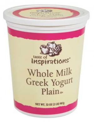 Taste Of Inspirations Whole Milk Plain Greek Yogurt