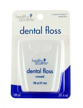 Healthy Accents Regular Wax Dental Floss