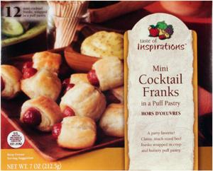 Taste Of Inspirations Mini Franks Wrapped In A Puff Pastry