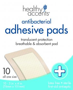 """Healthy Accents Adhesive 3"""" X 4"""" Pads"""