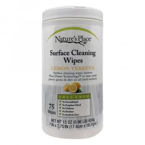 Nature's Place Surface Cleaning Wipes Lemon Verbena