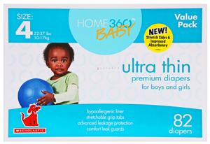 Home 360 Baby Ultra Thin Size 4 Diapers