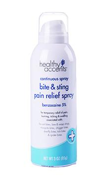 Healthy Accents Bite & Sting Pain Relief Spray