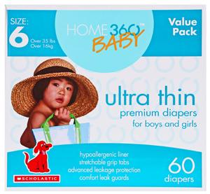 Home 360 Baby Ultra Thin Size 6 Diapers
